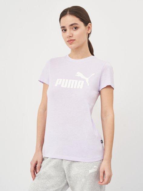 Футболка Puma ESS Logo Heather Tee 58687616 M Light Lavender Heather (4063697270909) - изображение 1