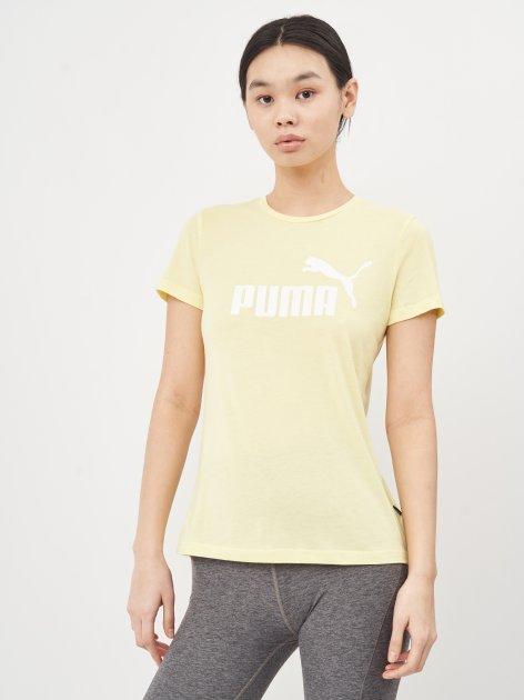 Футболка Puma ESS Logo Heather Tee 58687640 XS Yellow Pear Heather (4063697258884) - зображення 1