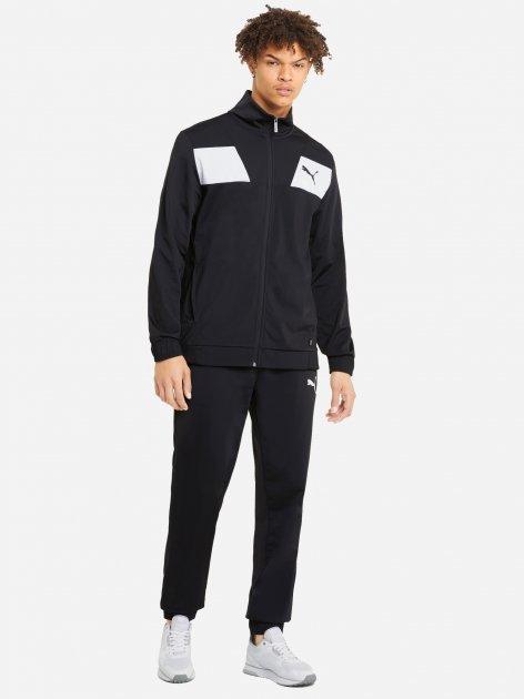 Спортивный костюм Puma Techstripe Tricot Suit 58583801 XL Black (4063697167445) - изображение 1