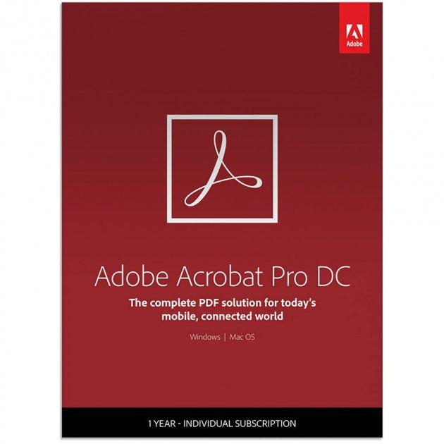 Adobe Acrobat Pro DC for enterprise. Лицензия для коммерческих организаций, годовая подписка на одного пользователя в пределах заказа от 1 до 9 (65271311BA01A12) - изображение 1