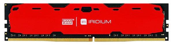 Оперативна пам'ять Goodram DDR4-2400 16384 MB PC4-19200 Iridium Red (IR-R2400D464L17/16G) - зображення 1
