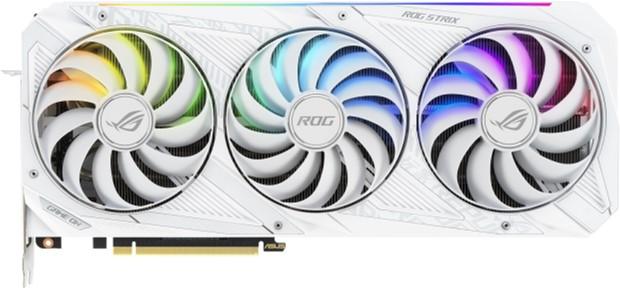 Asus PCI-Ex GeForce RTX 3070 ROG Strix Gaming OC White Edition 8GB GDDR6 (256bit) (1935/14000) (2 x HDMI, 3 x DisplayPort) (ROG-STRIX-RTX3070-O8G-WHITE) - зображення 1