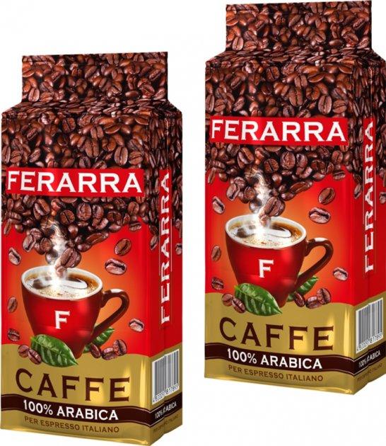 Упаковка меленої кави Ferarra Arabica 100% 250 г х 2 шт. (2000006782212) - зображення 1