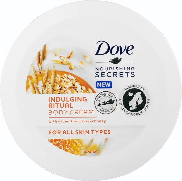Крем для тела Dove с овсяным молочком и медом акации 250 мл (8710447496190) - изображение 1