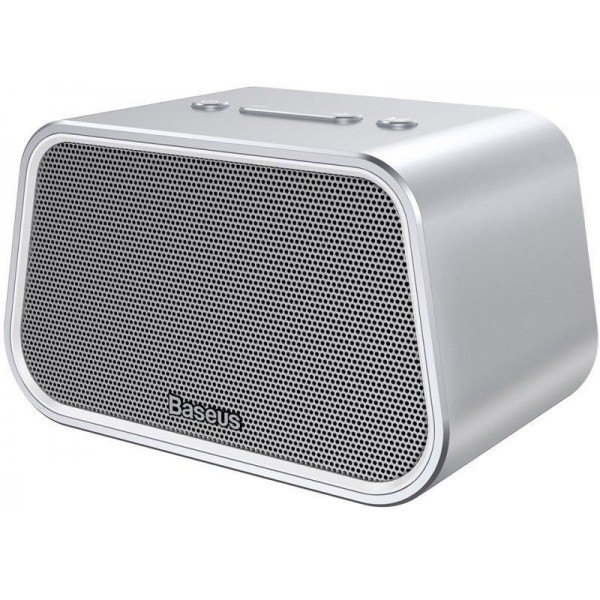 Акустическая система, портативная колонка Baseus E02 Encok Multi-functional wireless speaker Silver (1131) - изображение 1