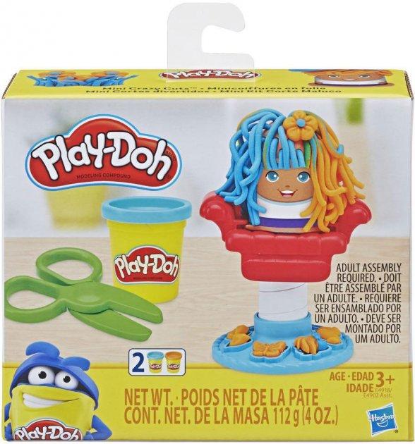 Набір для ліплення Hasbro Play-Doh Mini Улюблені набори в мініатюрі Божевільні зачіски (E4902_E4918) (5010993555079) - зображення 1