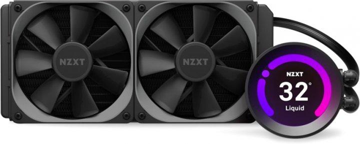 """Система жидкостного охлаждения NZXT Kraken Z53 - 240 мм AIO Liquid Cooler with 2.36"""" Display (RL-KRZ53-01) - изображение 1"""