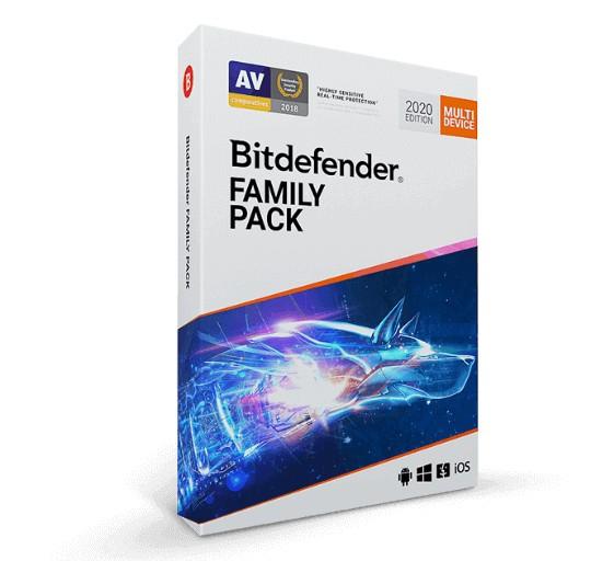 Ліцензійний антивірус BitDefender Family Pack 2020 - комплексний захист 15 пристроїв сімейного кола! (1 ліц, 15 пристроїв, 2 роки) - зображення 1