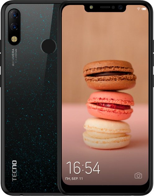 Мобільний телефон Tecno Spark 3 Pro (KB8) Midnight Black - зображення 1
