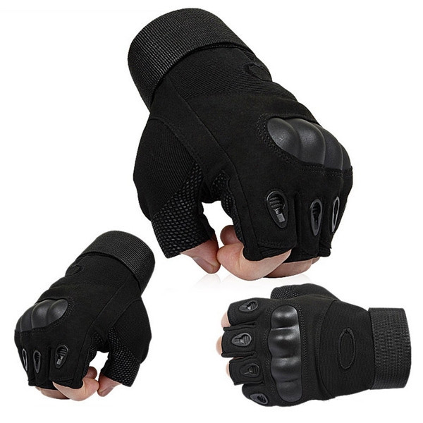 Перчатки тактические Открытые с усиленным протектором OAKLEY Черные L - изображение 1
