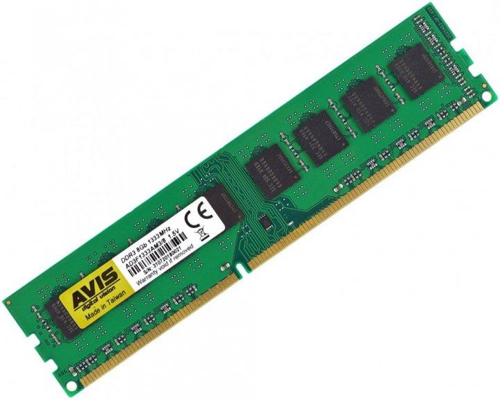 Оперативная память DDR3-1333 8Gb для AMD систем PC3-10600 (8192MB) AVIS AD3F1333AM3/8 (770008575) - изображение 1