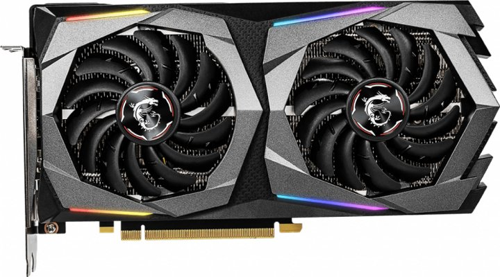 MSI PCI-Ex GeForce RTX 2060 Gaming 6G 6GB GDDR6 (192bit) (1680/14000) (3 x DisplayPort, 1 x HDMI) (GeForce RTX 2060 GAMING 6G) - зображення 1