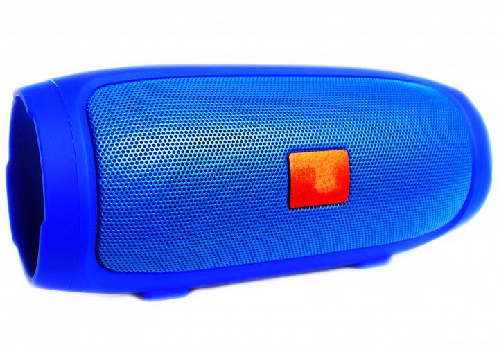 Портативна bluetooth стерео колонка T&G Charge 3 Mini Синя (Charge 3 Mini Blue) - зображення 1