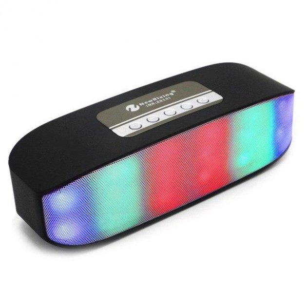 Портативная переносная колонка New Rixing NR-2014 2*3W Bluetooth - зображення 1