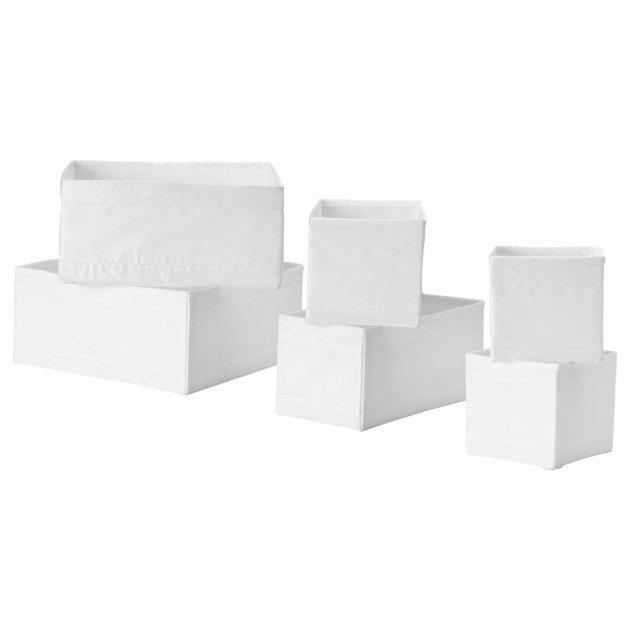 Набір коробок IKEA (ІКЕА) SKUBB 6 шт білий (001.926.31) - зображення 1