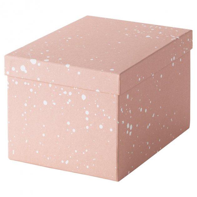 Коробка з кришкою IKEA (ІКЕА) TJENA 18х25х15см рожева (004.038.17) - зображення 1