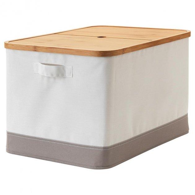 Коробка IKEA (ІКЕА) RABBLA 35х50х30см коричнева бежева (403.481.26) - зображення 1