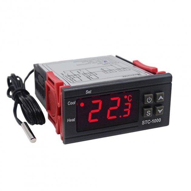 Цифровий терморегулятор з датчиком температури -50+99°С KETOTEK STC-1000 10А 220В - зображення 1