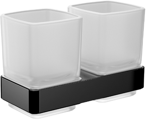Стакан для ванної EMCO Loft Black 0525 133 00 подвійний - зображення 1