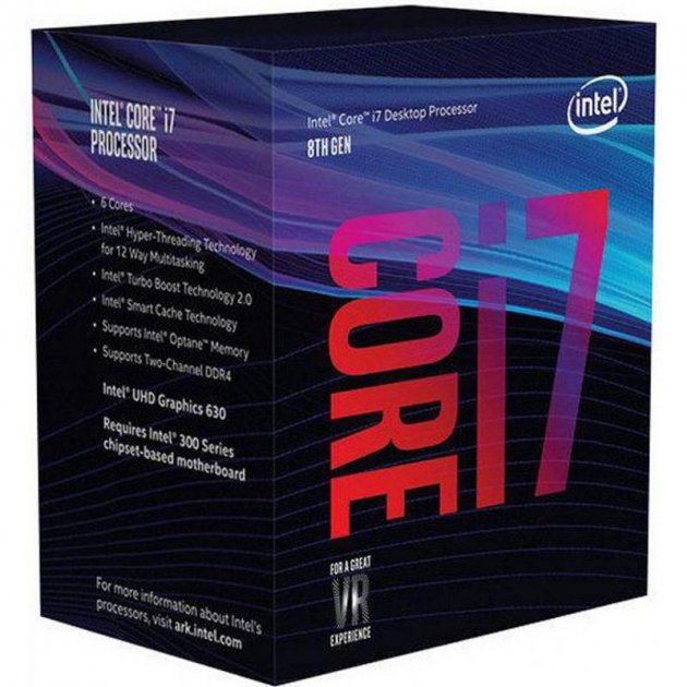 Процессор Intel Core i7 8700 3.2GHz (12MB, Coffee Lake, 65W, S1151) Box (BX80684I78700) - изображение 1
