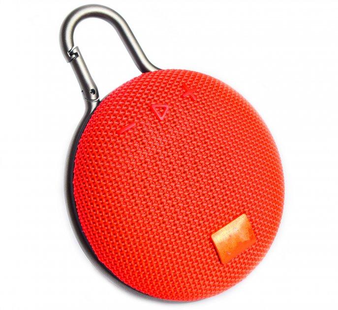 Портативна bluetooth колонка вологостійка T&G Clip 3 Червона (Clip 3 Red) - зображення 1