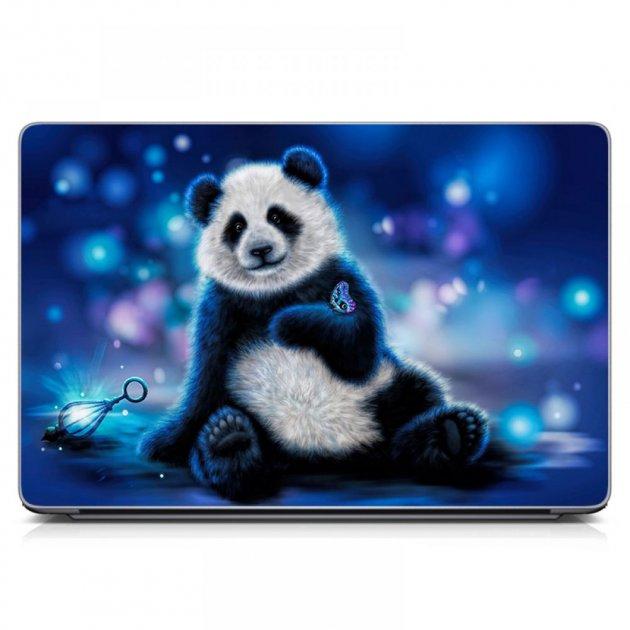 """Универсальная наклейка на ноутбук 15.6""""-13.3"""" 380х250 мм IdeaClock Панда Матовый - изображение 1"""