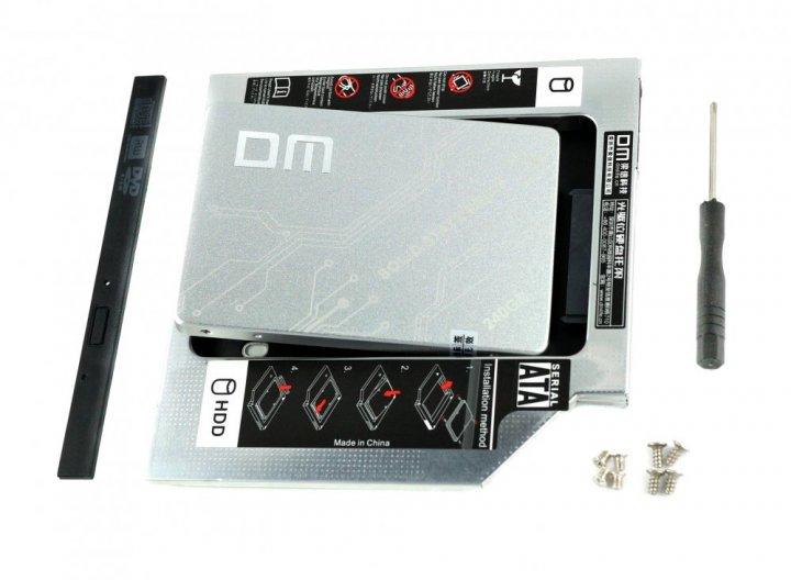 """Твердотільний накопичувальний (жорсткий) диск DM F500 2.5"""" SATA III 240GB (DMF500/240G) в комплекті з адаптером DM 9.5 мм (DW095S) для ноутбука (770008588) - зображення 1"""