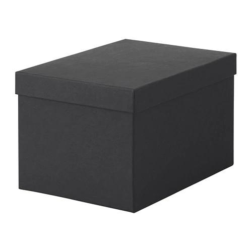Контейнер з кришкою IKEA TJENA 18x25x15 см чорний 603.954.85 - зображення 1