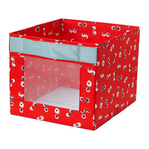 Коробка IKEA ANGELÄGEN 38x42x33 см червона 604.179.44 - зображення 1