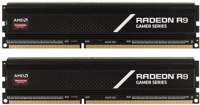 Оперативная память AMD DDR4-2800 16384MB PC4-22400 (Kit of 2x8192) R9 Gamer Series (R9S416G2806U2K) - изображение 1