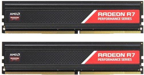 Оперативна пам'ять AMD DDR4-2400 8192MB PC4-19200 (Kit of 2x4096) R7 Performance Series (R7S48G2400U1K) - зображення 1