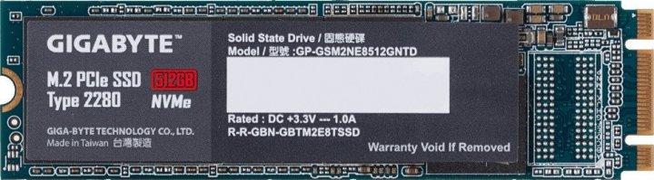 Накопичувач SSD M. 2 512GB GigaByte (GP-GSM2NE8512GNTD) - зображення 1