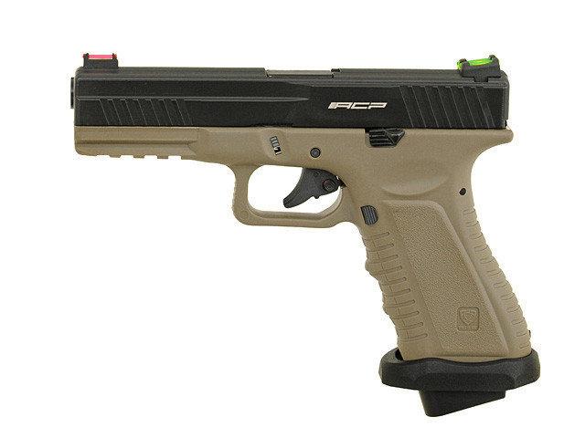 Пістолет APS Action Combat Pistol CO2 Tan (Страйкбол 6мм) - зображення 1