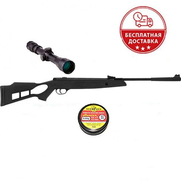 Пневматична гвинтівка Hatsan Striker Edge з посиленою газовою пружиною 3-9х40 Sniper AR + кулі - зображення 1