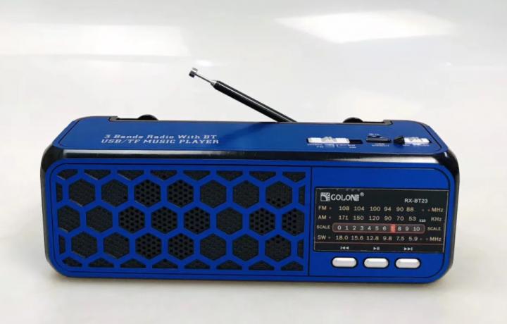 Радиоприемник Bluetooth Golon RX-BT23 с фонариком Синий - изображение 1