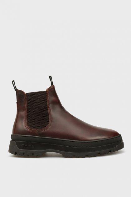 Мужские коричневые кожаные челси ST GRIP Gant 44 21651040 - изображение 1