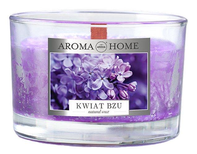 Ароматическая свеча из натурального воска Aroma Home 836667 Сирень 115 г (5902846836667) - изображение 1