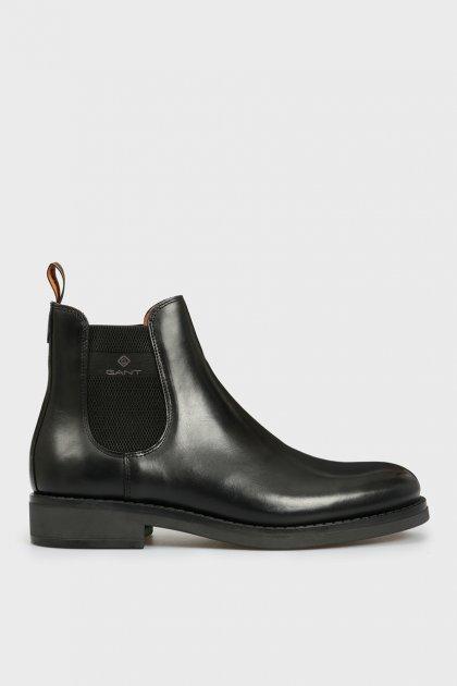 Мужские черные кожаные челси BROOKLY Gant 43 21651011 - изображение 1