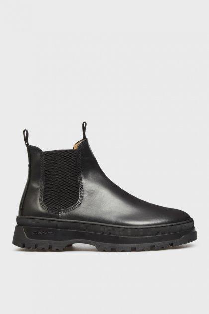 Мужские черные кожаные челси ST GRIP Gant 42 21651040 - изображение 1