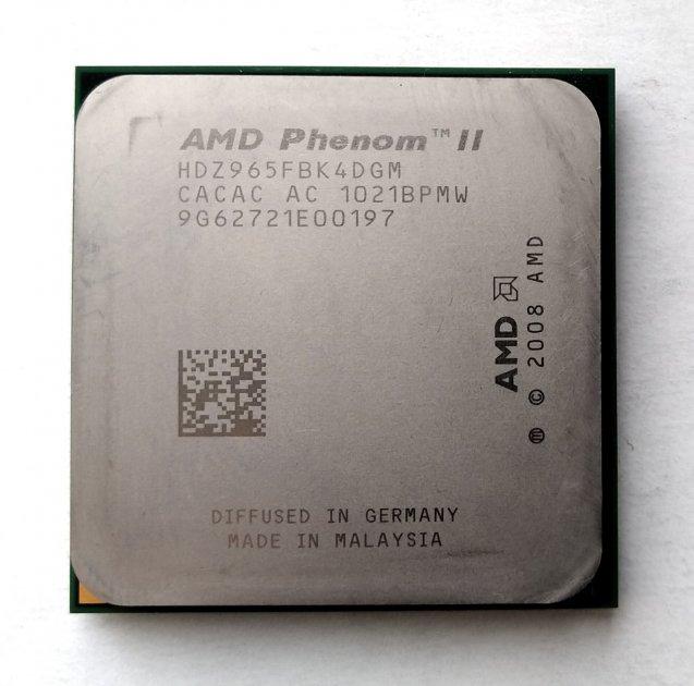 Процесор AMD Phenom II X4 965 Black Edition 3,4 GHz sAM3 Tray 125w (HDZ965FBK4DGM) Deneb Б/У - зображення 1