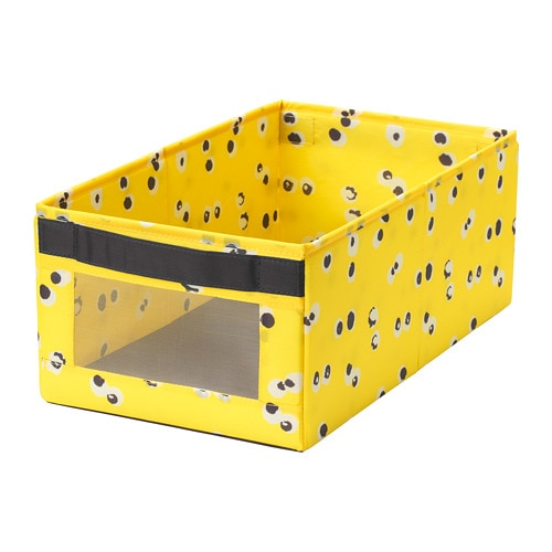 Коробка IKEA ANGELÄGEN 25x44x17 см желтая 704.179.34 - зображення 1