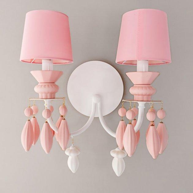 Бра настінне Light House ES-15452/2pink рожеве - зображення 1