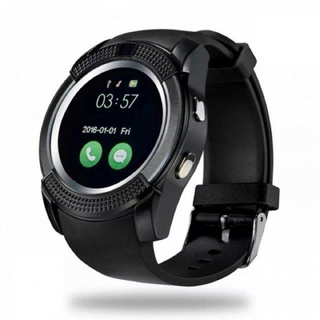 Фітнес годинник Smart Watch V8 black - зображення 1