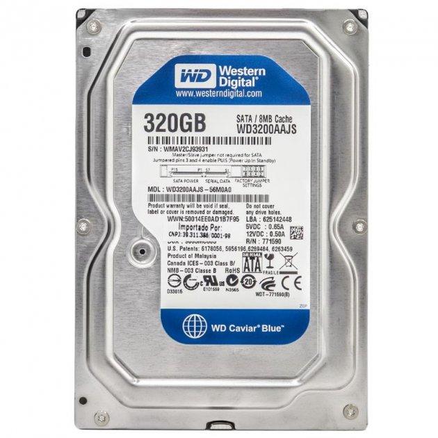 Накопичувач HDD SATA 320Gb WD, 8Mb, Caviar Blue (WD3200AAJS) - Refubrished - зображення 1