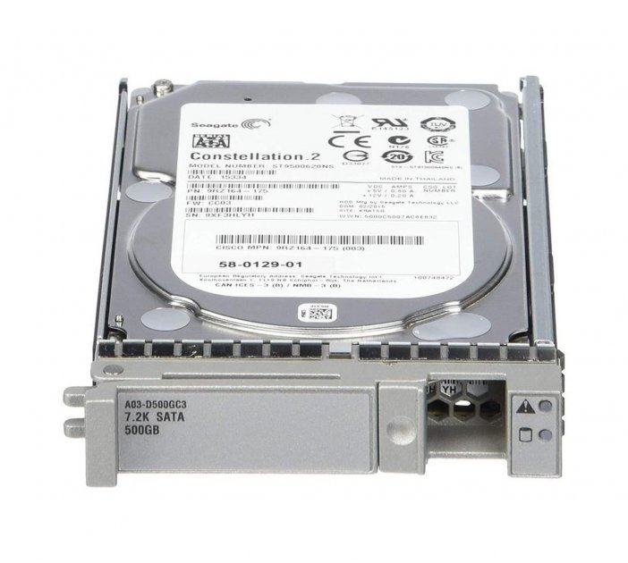 Cisco Cisco RF 500GB6GbSATA7.2K RPM SFFhotplug/driv (A03-D500GC3-RF) Refurbished - зображення 1