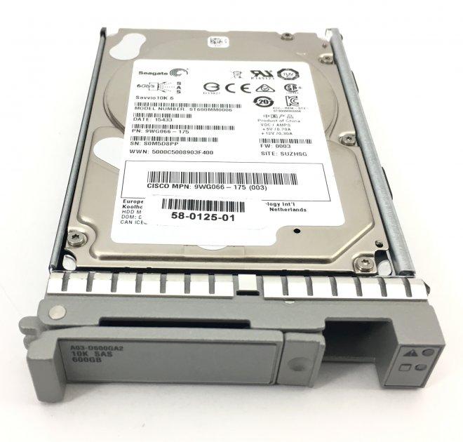 HDD Cisco Cisco 600GB 10K 6G 2.5 INCH SAS HDD (58-0125-01) Refurbished - зображення 1