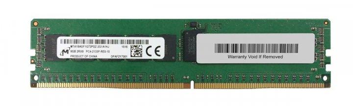 Оперативная память Micron MICRON 8GB (1*8GB) 2RX8 PC4-17000P-R DDR4-2133MHZ 1.2V RDIMM (MTA18ASF1G72PDZ-2G1) Refurbished - изображение 1