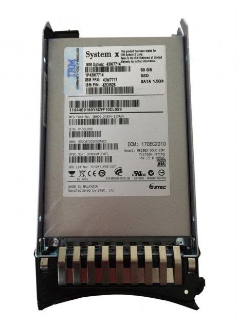 "SSD IBM IBM 50GB SATA 2.5"" HotSwap SSD - High IOPS (42C0528) Refurbished - зображення 1"