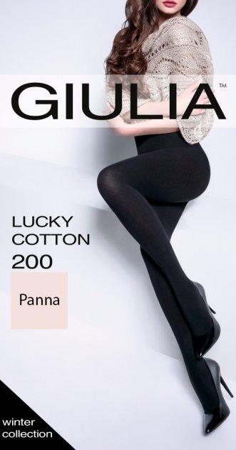 Колготки Giulia Lucky Cotton 200 Den (5 р) Panna (4820040300696) - изображение 1