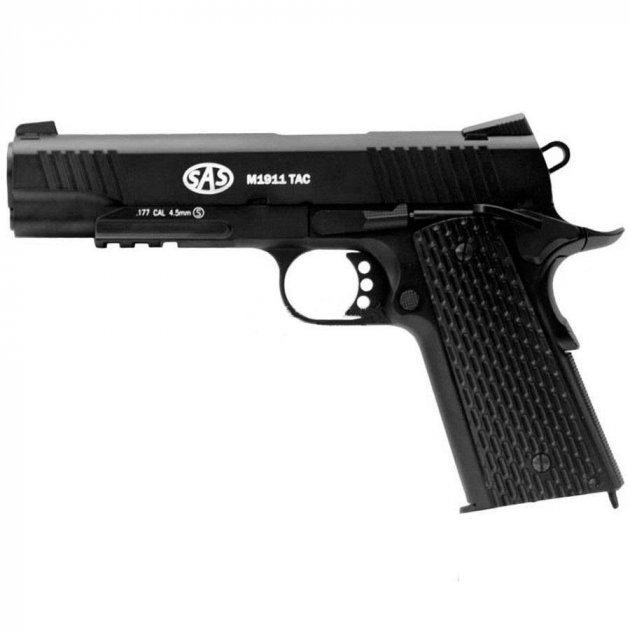 Пистолет пневматический SAS M1911 Tactical черный - изображение 1